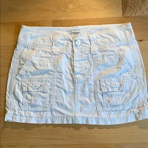 AE White Cargo Mini Skirt Sz 0